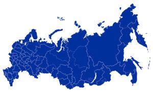 карта России по регионам